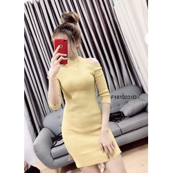 Đầm body len khoét vai hàng nhập! MS: S181018 Giá sỉ: 130k
