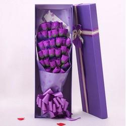 Hoa hồng sap 19 bông lưu hương thơm lâu, có hộp đẹp tinh tế