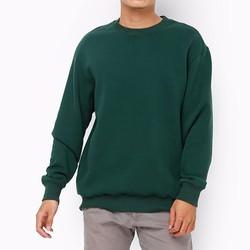 Áo thun tay dài unisex xuất khẩu cao cấp màu xanh lá
