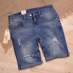 Quần Short Jeans Xanh Vừa