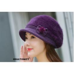 Mũ nón len lông thỏ thu đông