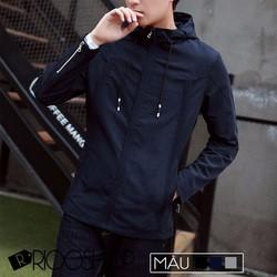 Áo khoác dù nam có nón Hàn Quốc cao cấp