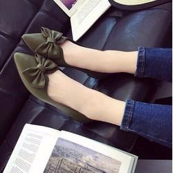 Giày búp bê phối nơ siêu xinh