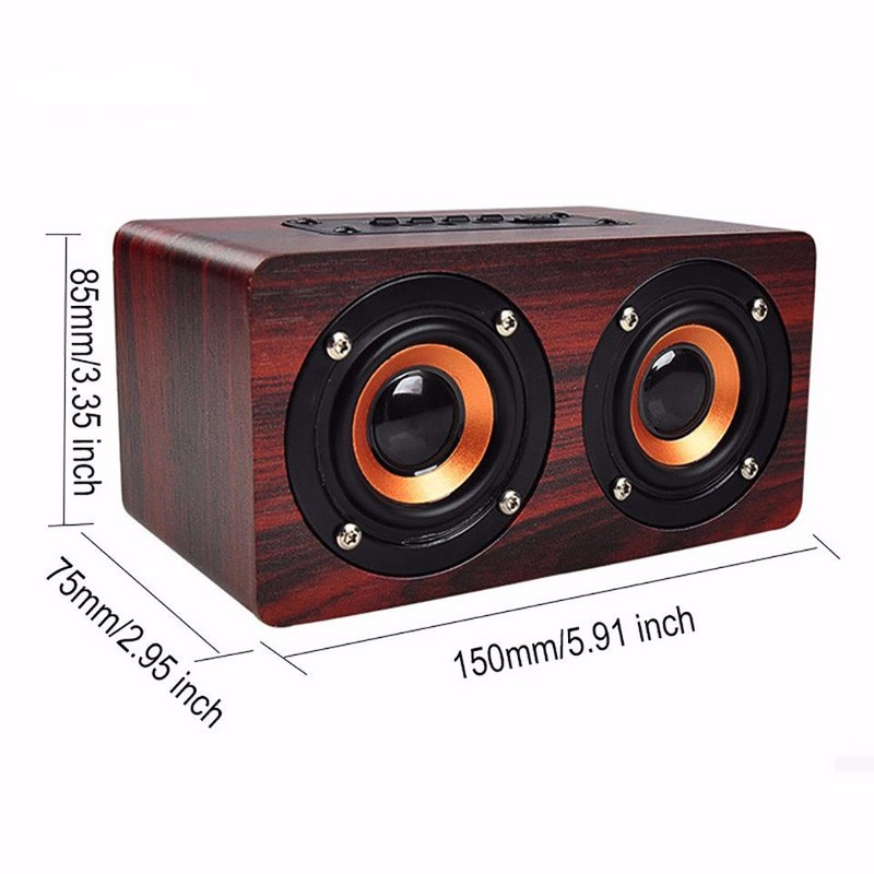 Loa Gỗ Bluetooth HIFI Super Bass Stereo speaker PKCB-G4 14