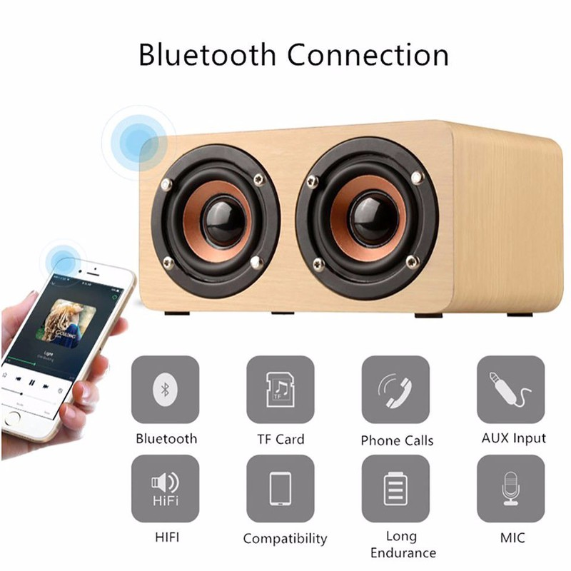 Loa Gỗ Bluetooth HIFI Super Bass Stereo speaker PKCB-G4 3