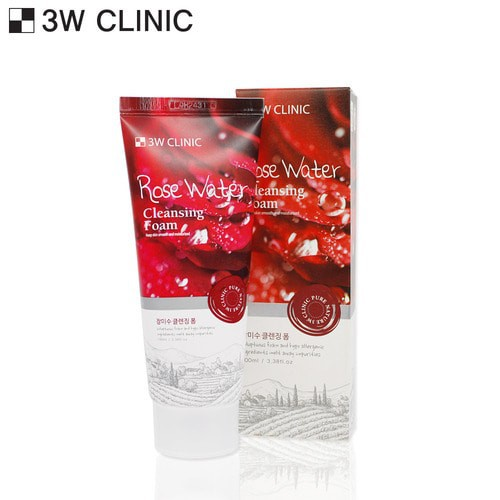 SỮA RỬA MẶT CHIẾT XUẤT HOA HỒNG ROSE WATER 3W CLINIC