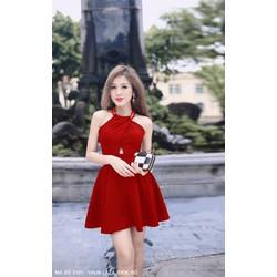 Đầm Yếm thun laza