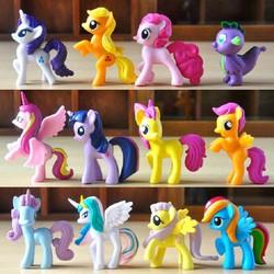 set 12 ngựa pony - ngựa pony 7cm