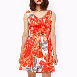 Đầm thời trang nữ xuất khẩu họa tiết đa sắc