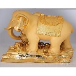 Tượng Voi vàng linh vật phong thủy thờ cúng và trang trí