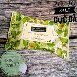 KHĂN GIẤY TẨY TRANG THE FACE SHOP HERB DAY CLEANSING TISSUE
