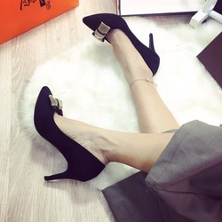 Giày cao gót nơ kim tuyến