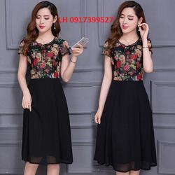 Đầm xòe Váy xòe thời trang Hàn Quốc mới L12DV919