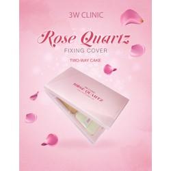 PHẤN NỀN TRANG ĐIỂM 3W CLINIC ROSE QUARTZ FIXING COVER TWOWAY CAKE