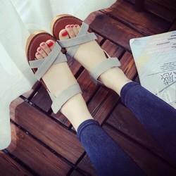 giày sandal đế xuồng quai chéo