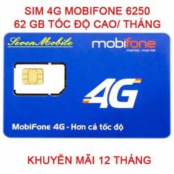 SIM 4G Mobifone 62Gb