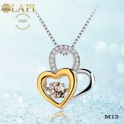 Mặt dây chuyền bạc, mặt dây chuyền trái tim bạc 925, trang sức bạc