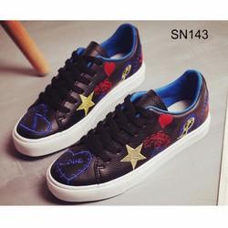 Giày Sneakers Thêu họa tiết