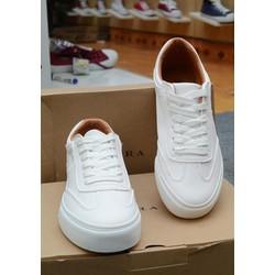 Giày thời trang nam da trắng lót vàng