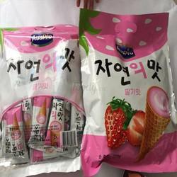 Bánh que kem Dâu ốc quế Hàn Quốc
