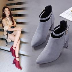 Giày Boot Mũi Nhọn GB602