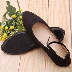 Giày Búp Bê Nữ Khải Nam Có Quai Màu Đen – Bảo Hành 6 Tháng