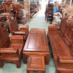 Bộ bàn ghế Âu Á gỗ Hương Vân