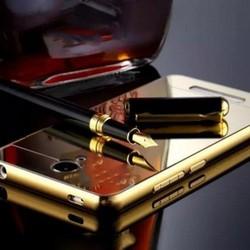 Ốp lưng Xiaomi Mi Note 2 viền nhôm tráng gương