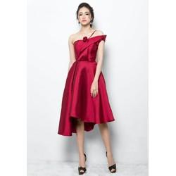 Đầm xòe hoa hồng cao cấp