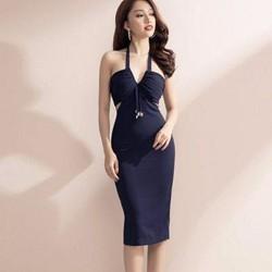 Đầm cúp ngực cổ yếm thiết kế ôm body