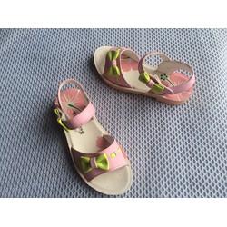 Dép sandal hồng gắn nơ điệu đà cho bé gái 1.5-6 tuổi