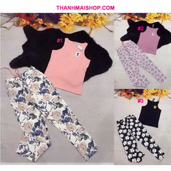QA201 - Bộ áo ba lỗ thun mềm mịn + quần dài kaki thun cao cấp