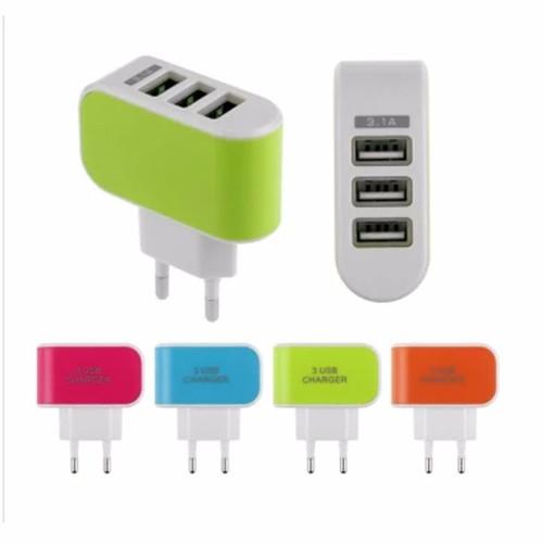 Cục sạc điện thoại đa năng 3 cổng USB 3.1A.