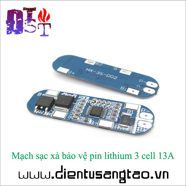 Mạch sạc xả bảo vệ pin lithium 3 cell 13A 1