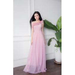 Đầm dạ hội lệch vai lông vũ quyến rủ