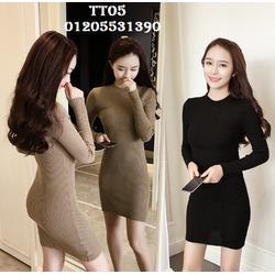 Váy len dệt kim cao cấp TT05