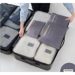 Bộ 06 Túi Xách Du Lịch Tiện ích Bag in Bag xếp gọn QSTORE QS123