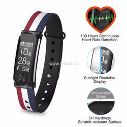 Đồng hồ đeo theo dõi sức khỏe Q-Band Q-68HR New - Dây màu cờ