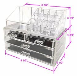 Tủ đựng mỹ phẩm mica 4 tầng - Kệ để đồ trang điểm - khay son