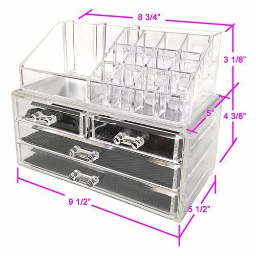 Tủ đựng mỹ phẩm mica 4 tầng - kệ để đồ trang điểm - khay son - 12160264 , 7417074 , 15_7417074 , 249000 , Tu-dung-my-pham-mica-4-tang-ke-de-do-trang-diem-khay-son-15_7417074 , sendo.vn , Tủ đựng mỹ phẩm mica 4 tầng - kệ để đồ trang điểm - khay son