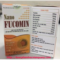 Combo 2 hộp Nano Fucomin Học Viện Quân Y Hỗ Trợ Bệnh Ung Thư 30V