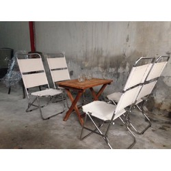 bộ bàn ghế xếp lưới dùng cho quán cafe