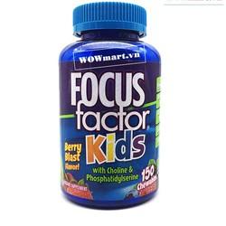 Viên ngậm phát triển trí não cho trẻ em FOCUS Factor For Kids 150 viên