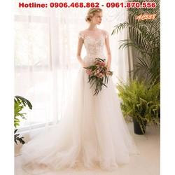 Váy cưới dáng suông nhẹ nhàng AC538