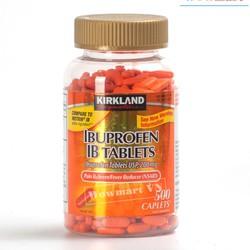 Viên uống giảm đau hạ sốt Kirkland Signature Ibuprofen 200mg 500 viên