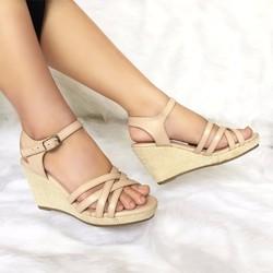 Giày sandal đế xuồng Li064K - JANVID - tiện lợi, thoải mái