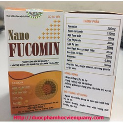 Nano fucomin hỗ trợ điều trị ung thư học viện quân y 30V