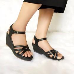 Giày sandal đế xuồng Li064D - JANVID - tiện lợi, thoải mái