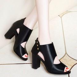 giày cao got nữ da mũi cực đẹp