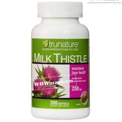 Tăng cường chức năng gan trunature® Milk Thistle 200mg 300 viên